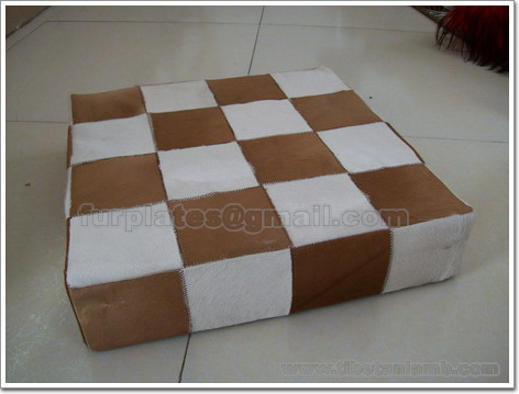 calf skin cow skin cushion covers