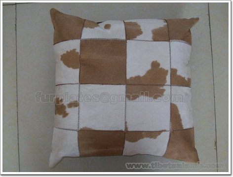 calf skin pillow