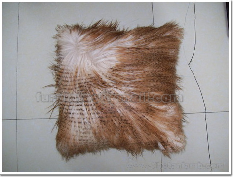 long haired goat skin pillow cushion cover