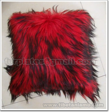 long haired goat skin pillow cover